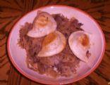 Pierogi With Sauerkraut steak and Mushrooms