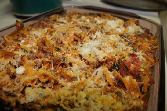 Turkey Pasta Bake with Spinach