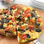 Vegetable and feta rice tart