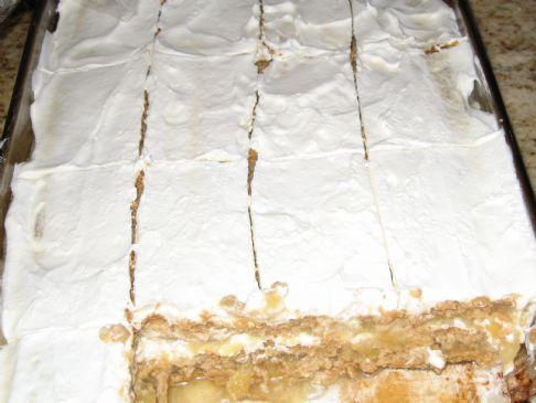 Pineapple Applesauce Graham Refrigerator  Cake