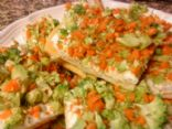 Broccoli and Carrot Squares