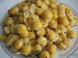 Chundal - Savory Indian Chick Pea and Coconut Snack
