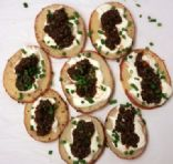 Black Olive Caviar Canapes