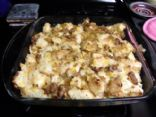 Sasuage & Caramelized Onion Bread Pudding-From Cooking Light Magazine