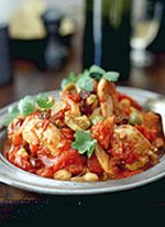 fast Moroccan chicken veggie stew