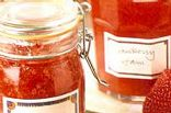 SUGAR FREE-No cook Strawberry Freezer Jam