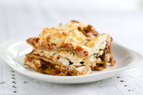 Lactose Free whole wheat lasagna made with Turkey