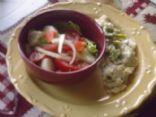 Buttery Broc Fettachini W/Side Salad