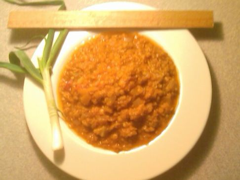 Curried Masoor Dahl (red lentils)