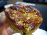 Turkey Bacon and Havarti Mini Quiches