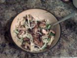 Mushroom Broccoli Pasta Bowl