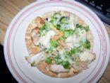 chicken and broccoli pita pizza