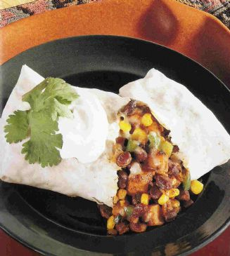 *Bean & Vegetable Burritos