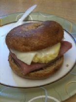 Bagel Breakfast Sandwich - Ham