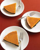 Everyday Food Chocolate-pumpkin tart (lightened)