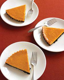 Everyday Food Chocolate-pumpkin tart (lightened)