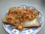 Summery Salsa Eggs (on bread)