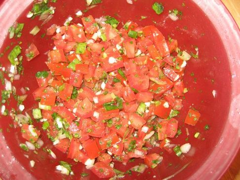 PICO DE GALLO SALSA WITH PICTURE