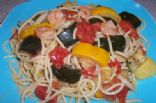 Summer Squash, Shrimp and Pasta