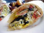 Loaded Breakfast Omelette Wrap