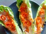 Raw Radish Dip in Lettuce Leaves