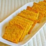 Almond Flour Cheese Crackers