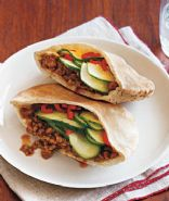Gingery Turkey Pitas
