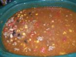 WLS Crock Pot Spicy Beefy Beany Taco Soup 