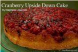 Cranberry upside down cake (joy of baking)