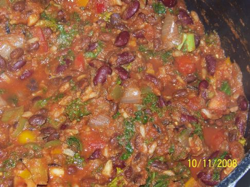 Kale & Black soy bean chili