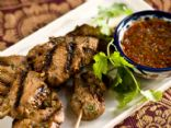 Grilled Pork Kabobs with Red Chile Sauce