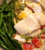 Brazilian Halibut with Green Beans