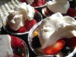 Cream cheese fruit tarts