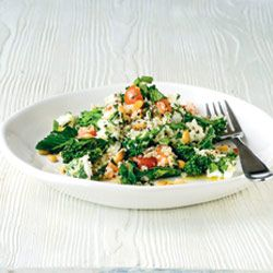 Bulgur Wheat, Feta & Broccoli Salad