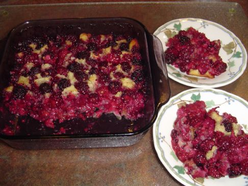 Sugar Free Blackberry Cobbler