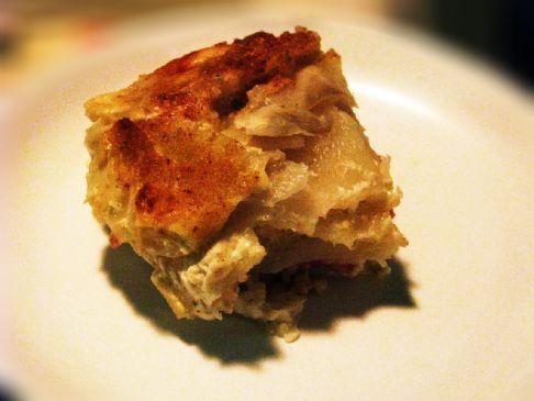 Gratin de pommes de terre au jambon recipe sparkrecipes - Gratin de pomme de terre jambon ...