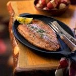Trout with Cream & Honey Sauce