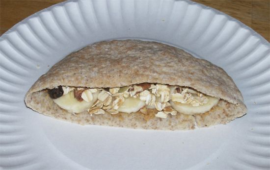 Pita Banana Breakfast