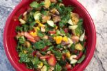 Mango Strawberry Spinach Cuke Salad