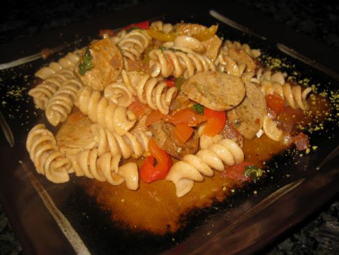 Italian-Style Pasta with Peppers and Sausage