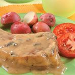 Mushroom-Garlic Pork Chops