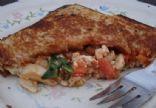Anne's Spinach, Tomato, Mushroom and Feta Mountain Pie (Pie Iron)