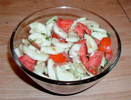 Cucumber & Tomato Salad with Mint