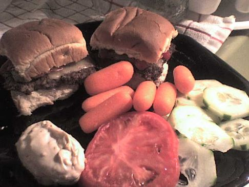 Savory Sliders with wheat rolls