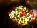 Zucchini salad w/beans and tomatoes