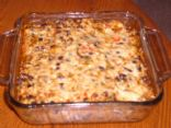 Smoky Cheese Black Bean and Rice Casserole