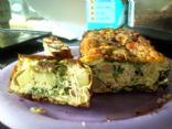 potato, spinach and ham omlette loaf