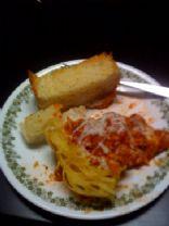Spaghetti Crust pie