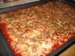 Zucchini Pizza w/ Turkey