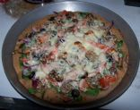 Garden Pizza with Whole Wheat Crust
